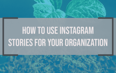 How to Use Instagram Stories for Your Organization